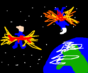 Smurfs explode in space!