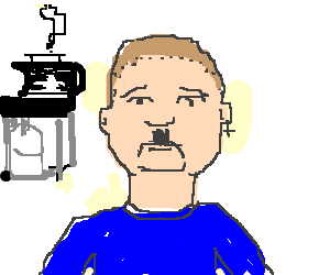 Adult Bobby Hill grows mustache is nazi