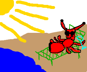 Fat ant tanning itself