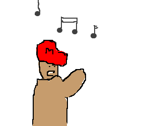 Mario goes for the high notes
