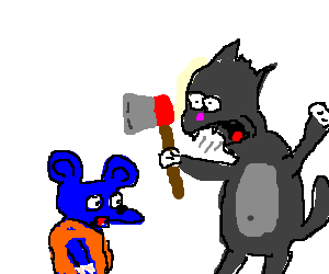 Scratchy wants to kill Itchy
