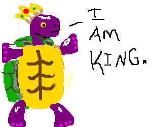 purple turtle is a king