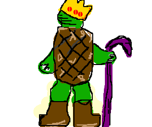 turtle king wearing uggs
