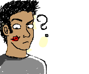 Man left puzzled by lipstick on his cheek