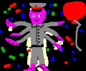 soviet octopusman celebrates
