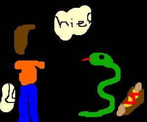 Man accuses snake of stealing his sausage