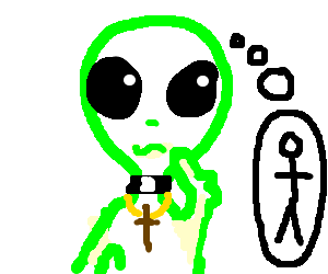 Alien priest questions his humanity
