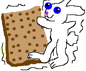 giant matza dancing with the easter bunny