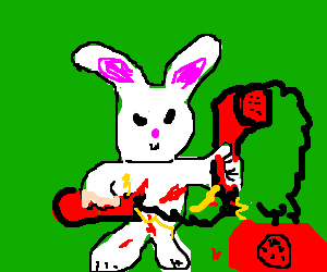 telephone fucked up by a rabbit