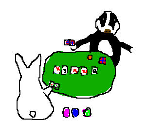 Bunny poker game