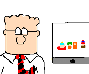 Dilbert watches South Park on his Mac