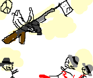 A flying tommy gun wants no more bloodshed
