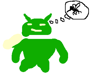 Android thinking about a mosquito