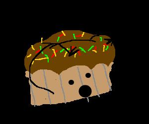 A cupcake experiences epiphany