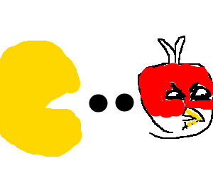 Pac-Man meets Angry Birds
