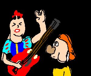 Snow White rocks harder for Sneezy