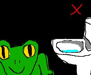 Frogs toilet