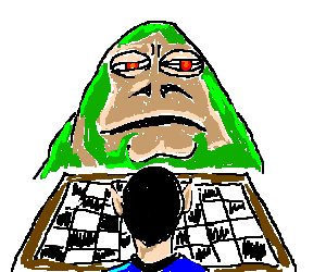 jabba the hut vs spock in checkers