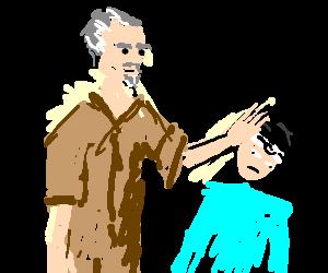 Mr Miyagi puts the karate kid in his place