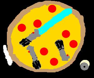 pepperoni light saber pizza