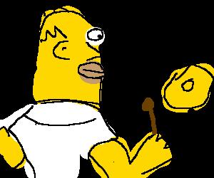 Homer's making music!