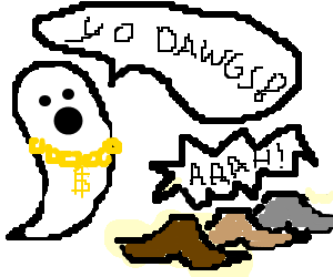 Gangster ghost scares moushtache triplets