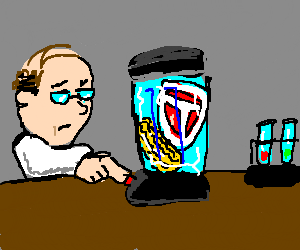 Corn Beef getting blended by a scientist