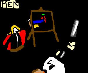 Alchemist creates forbidden art