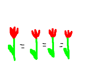 All the tulips are equal to each other