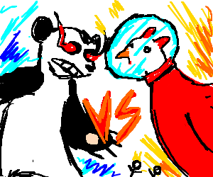 Angry panda vs Chicken from space no survivors