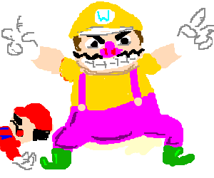 Wario celebrates another fine victory