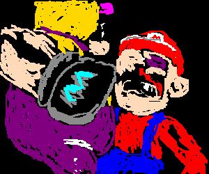 Wario finally beats Mario