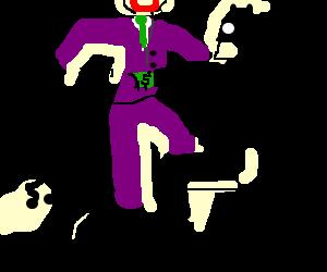 Joker gives Batman a lapdance