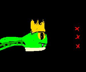 Snake-dragon king checks off his bucket list
