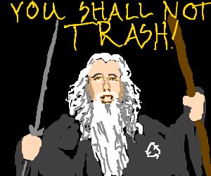 Gandolph Tells Balrog To Recycle