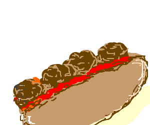 Meatball Sub Drawing By Digger Drawception