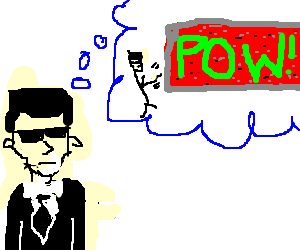 neo think about hitting pow brick