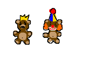 bear-king is angry with bear-clown