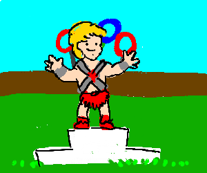 He man at the olympics