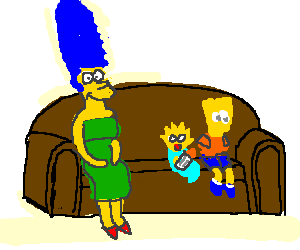 simpson family wondering where lisa & homer are