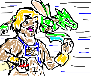 He-Man becomes a Pokemon trainer, uses Scyther.