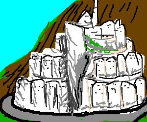 Minas Tirith from Lord of the Rings
