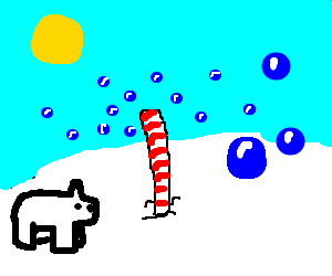 Bubbles reach the north pole