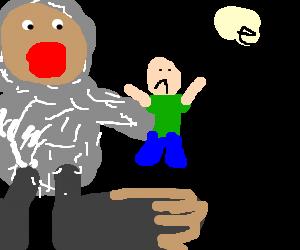 bigfoot eating a human