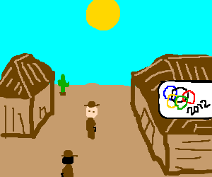 the 2012 olimpics in an old western movie