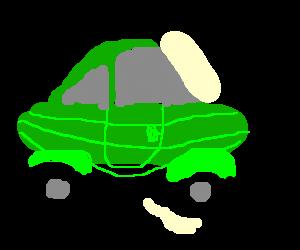 Green picklemobile.