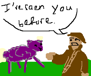 Oh look, a purple Sheep. Dejavu.