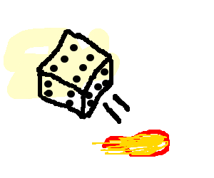 Roll D6 to cast fireball
