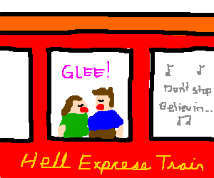 Gleeful demons on the Hell Express Train