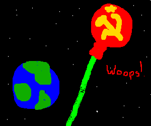URSS's planet misses earth with a laser